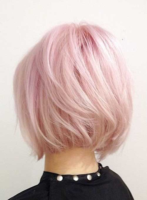 Pink Blonde Bob Hairstyles for Women