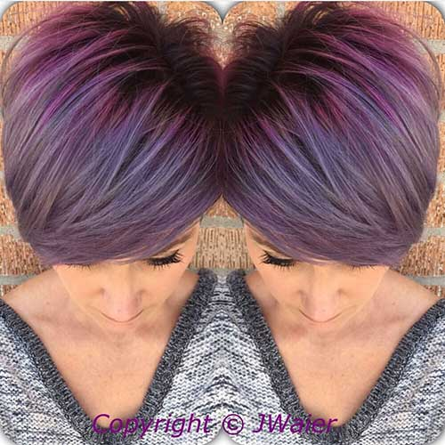 Purple Hair Color for Short Hair 2014