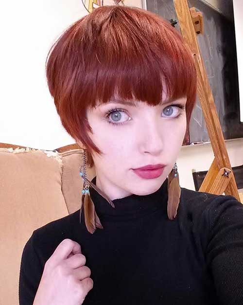 Red Pixie Hipster Hair