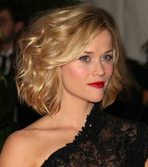 Reese Witherspoon Short Wavy Curly Hairstyles