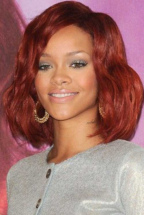 Rihanna Red Bob Haircuts
