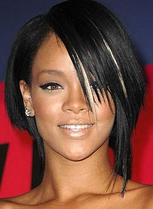 Rihanna Layered Bob Cut Styles