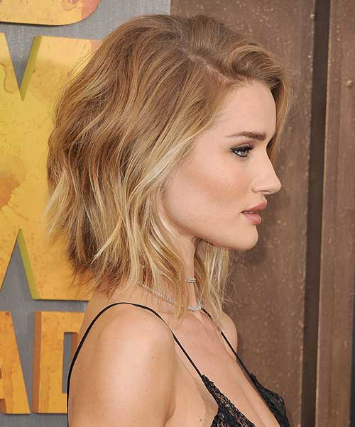Rosie Huntington-Whiteley Short Hair Color 2015