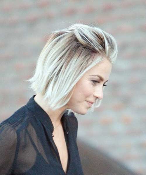 Short Blond Straight Hairstyles