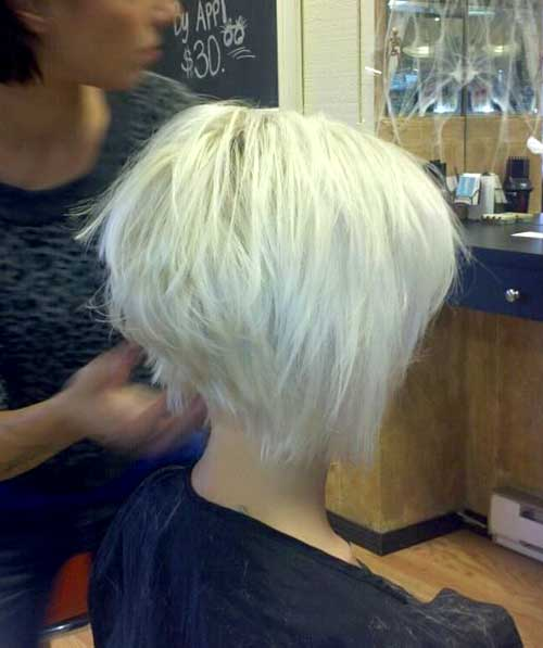 Short Blonde Graduated Hairstyles
