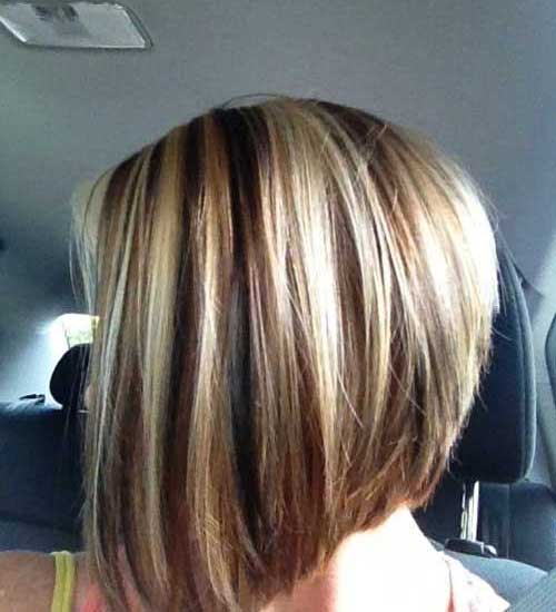 Short Blonde Highlighted Hair Styles