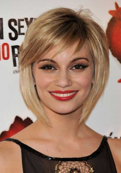Short Bob Cuts with Thin Bangs for Women