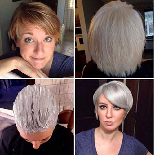 Short Chrome Hair Color Ideas