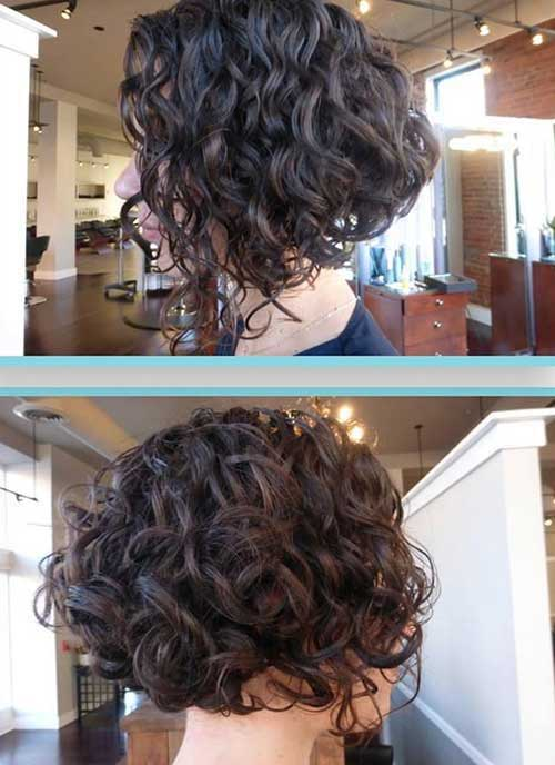 Short Dark Curly Haircuts 2014