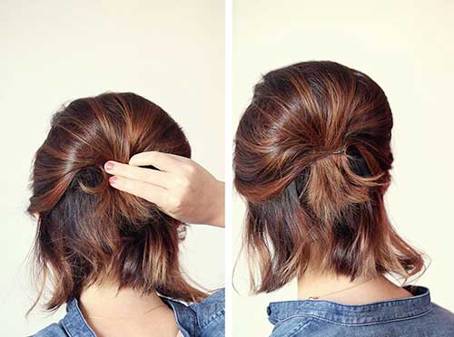 Short Cut Hair Cute Ponytail Ideas