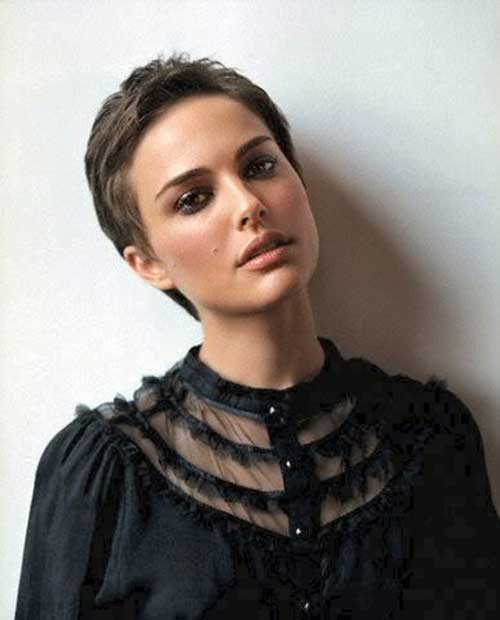 Short Cut Pixie Hairstyles Portman
