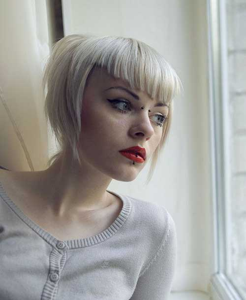 15 spicy short haircuts with bangs crazyforus angled short haircut with v bangs urmus Image collections