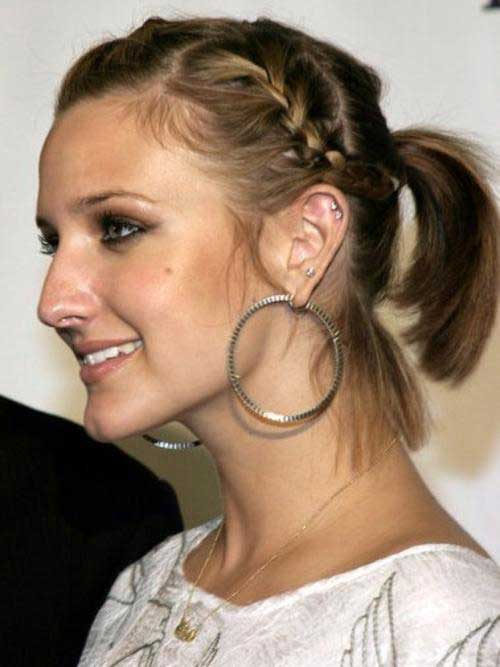 Short Hairstyles Cute Braided Ponytail