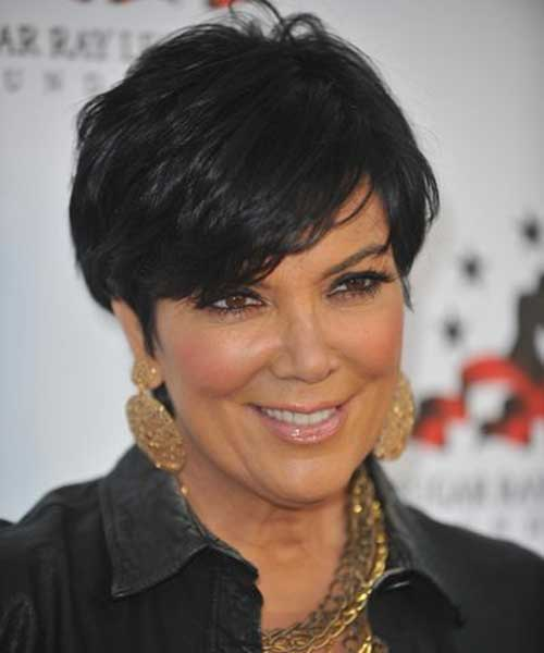 Short Straight Hairstyles for Older Women