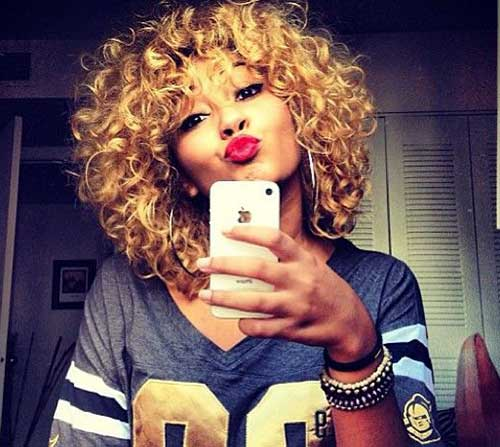 Short Curly Weave Hairstyles With Bangs | Hair Color Ideas and ...