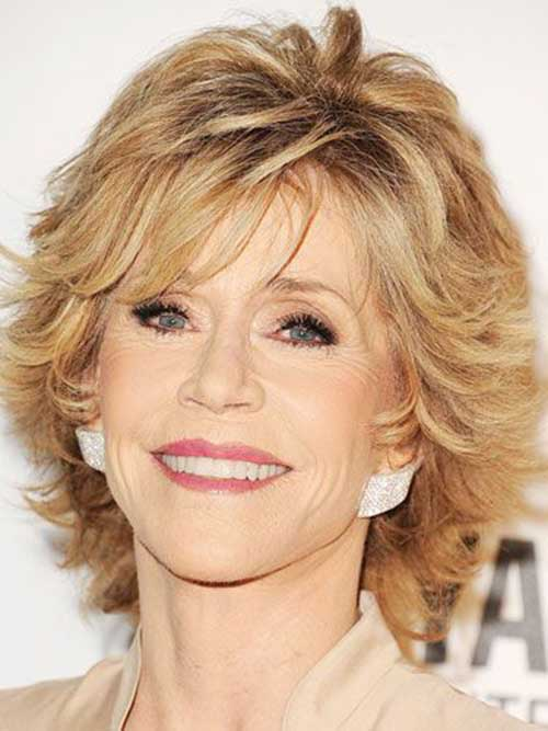 Short Layered Blonde Hair Styles for Women Over 50