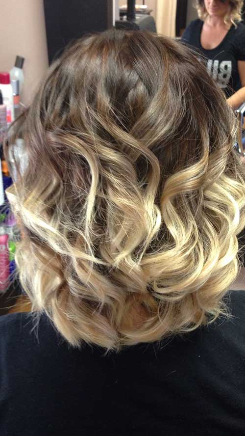 Short Ombre Hair Cuts Back View