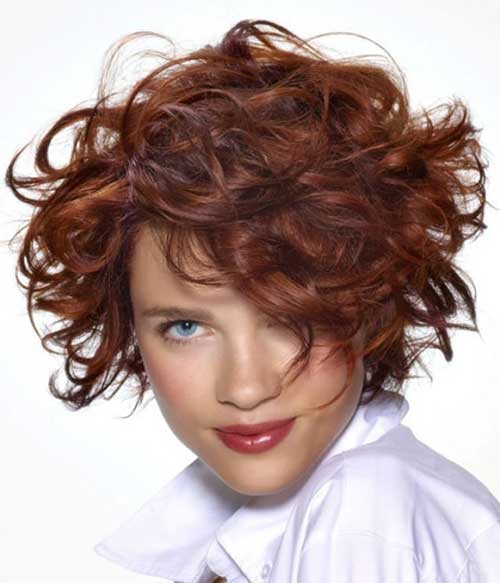 Short Permed Curly Haircuts for Oval Faces