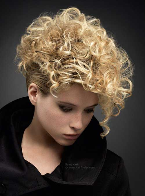 Short Punky Hairstyles for Curly Hair 2015