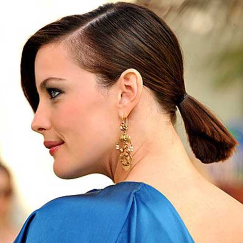 Short Straight Hair Cute Ponytail Styles