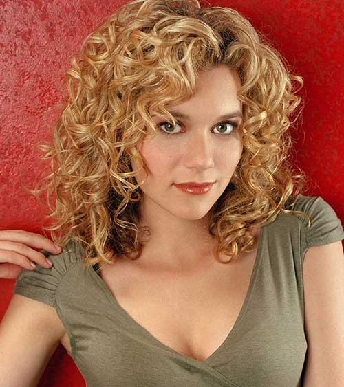 Short Trendy Haircuts for Curly Blonde Hair 2014 2015