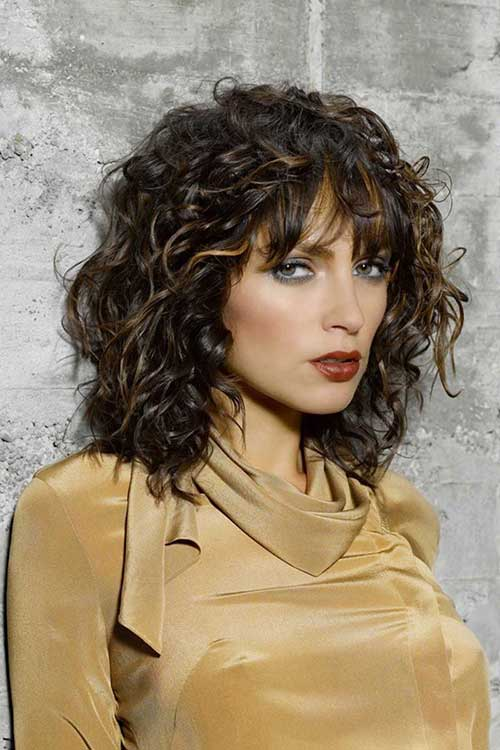 Short to Medium Haircuts for Curly Hair 2014 2015
