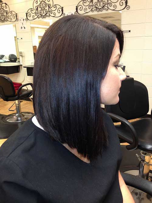 Side Swept Long Inverted Bob Haircuts