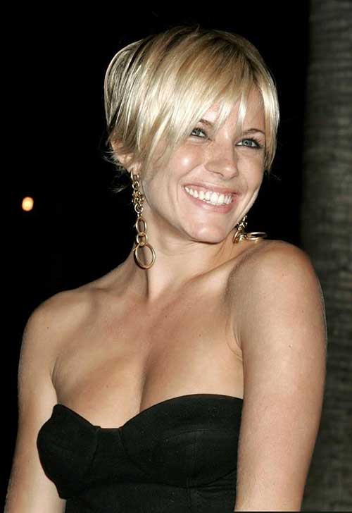 Sienna Miller Long Pixie Cut