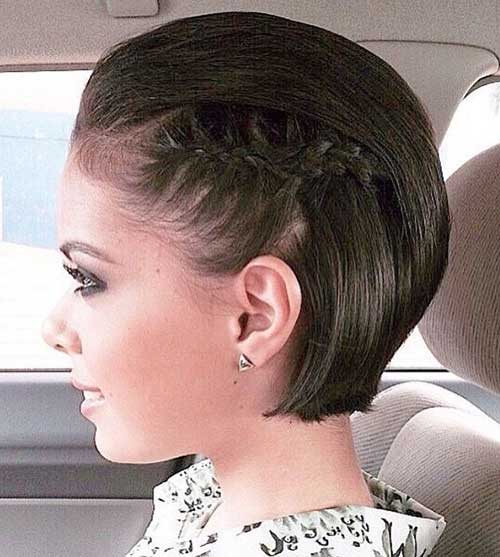 Simple Cute Braided Hairstyles for Short Hair