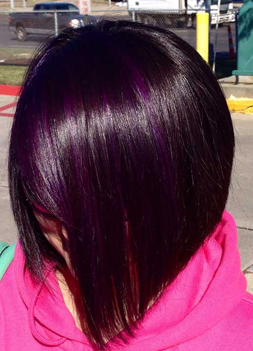 Straight Dark Bob Color Idea