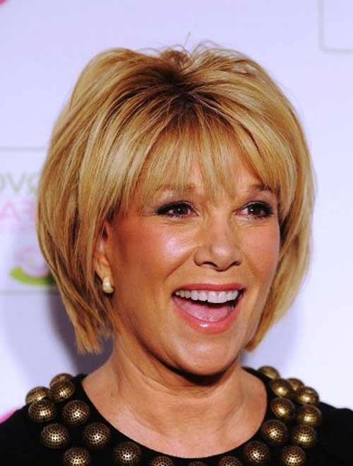 Straight Short Hairstyles Bangs for Women Over 40