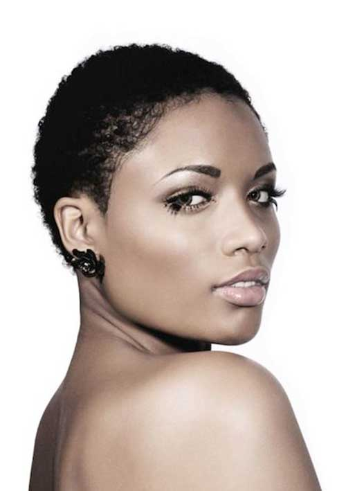 Super Short Curly Haircuts for Black Women