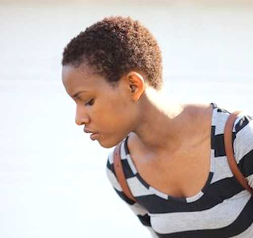 Super Short Natural Hairstyles for Black Girls