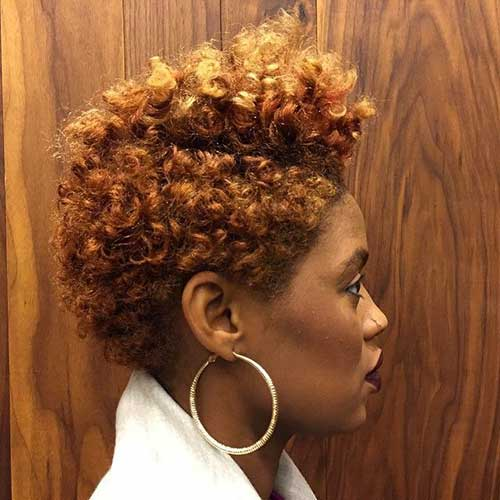 Tapered Short Curly Hair Styles for Black Women