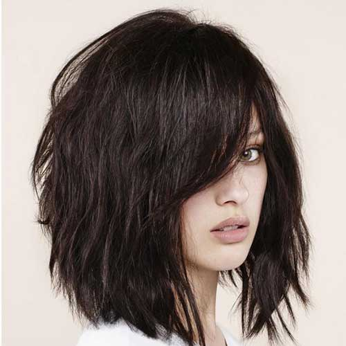 Thick Long Layered Bob Cuts for Women