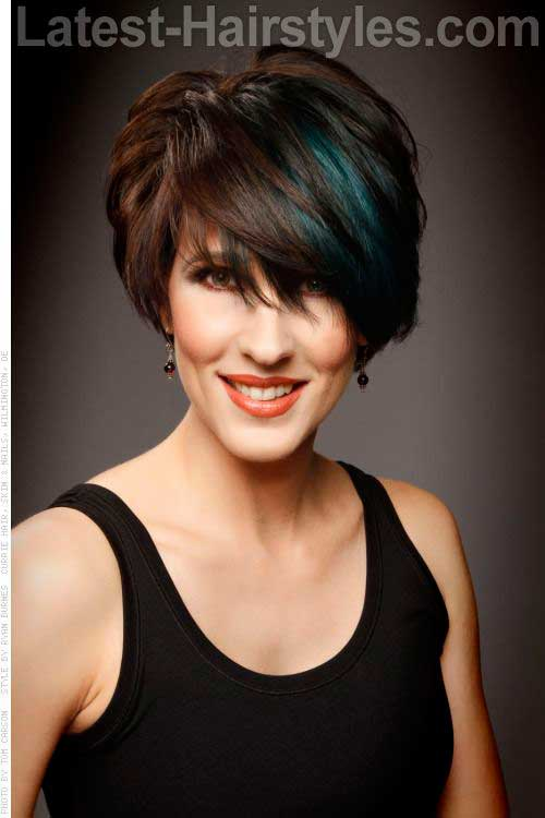 Thick Short Hair Cuts for Women Over 40