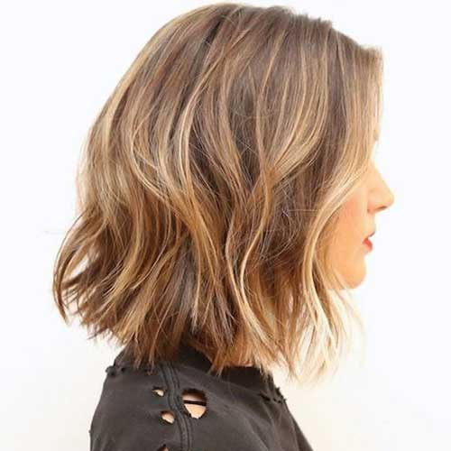 Thick Wavy Hair Blonde Ombre Short Cuts