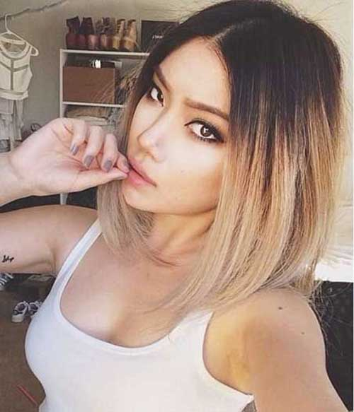 Trendy Blonde Ombre Short Hairstyles