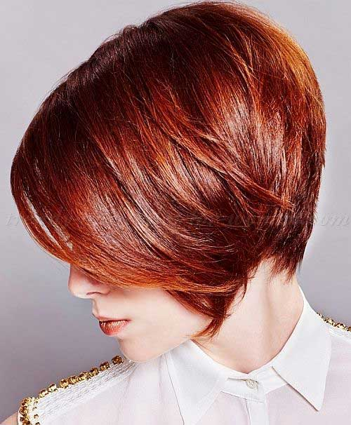 Trendy Layered Red Bob Haircuts