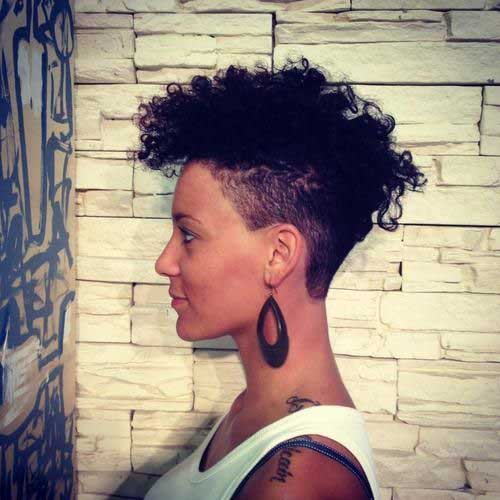 Undercut Short Curly Hairstyles Black Women
