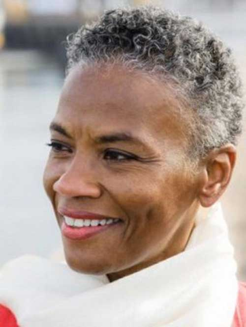 Very Short Grey Hairstyles for Black Women