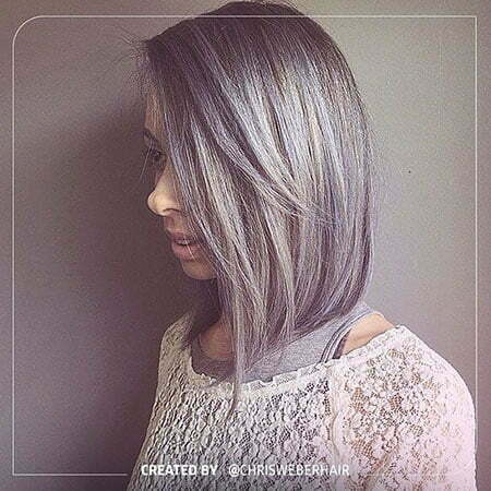 Grey Bob Hair