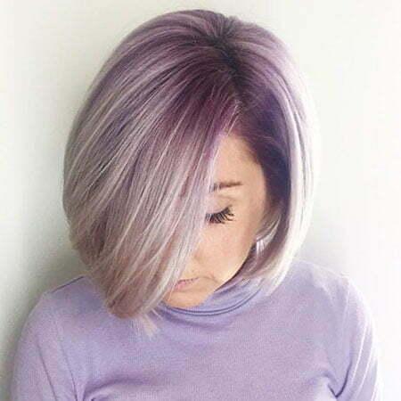 Lavender Bob Cut