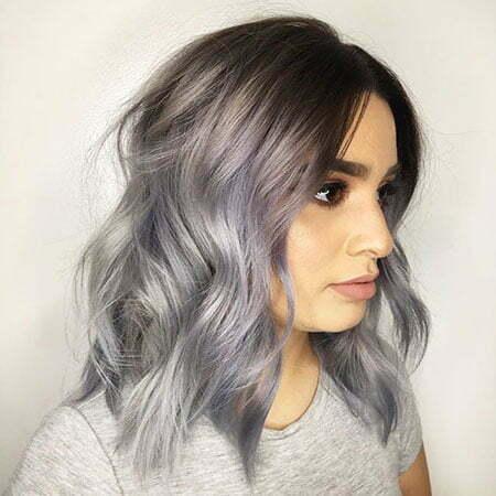Short Silver Wavy Hair