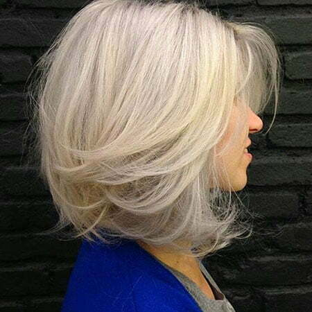 Medium-Length Bob Hair for Blonde