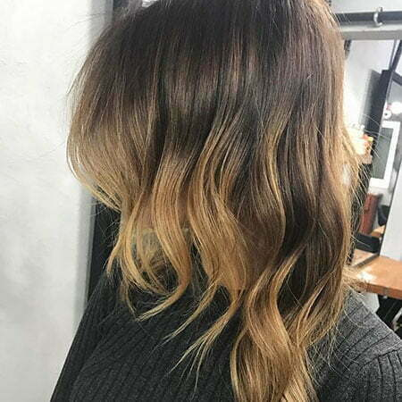 Short Dark Ombre