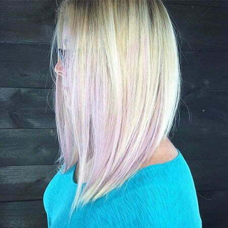 Blonde Long Bob Hair