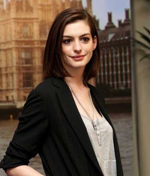 Anne Hathaway Short Length Hair Styles
