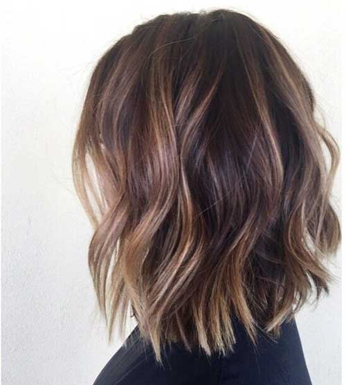 Ash Brown Wavy Short Hairstyles