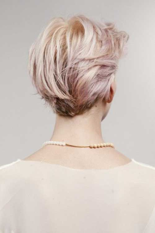 Back View of Short Cropped Hairstyles